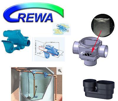 Zisternenfilter REWA F-100L mit Spaltsieb Regenwasserfilter