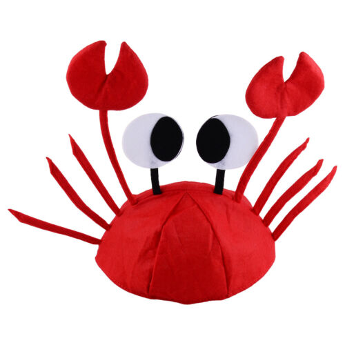 Meer Tier Krabbe Mütze Krebs Fasching Hut Fisch Kostüm für Crab Cosplay Karneval