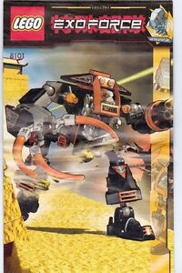 Details about LEGO EXOFORCE CLAW CRUSHER 8101 BUILDING MANUAL ONLY