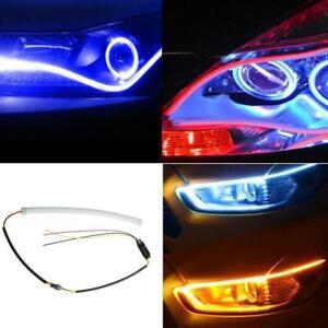 2Pcs 60CM LED Car DRL Daytime Running Lamp Strip Light Flexible Soft Tube Lamp