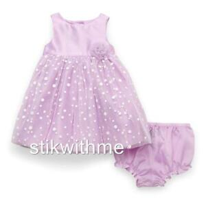 Special-Occasion-DRESS-Party-Shimmery-Bodice-Lavender-Baby-Girls-039-3-6-mos