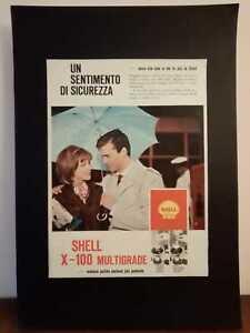 Pubblicita-originale-Shell-anni-039-60-rifilatura-da-rivista-in-passepartout