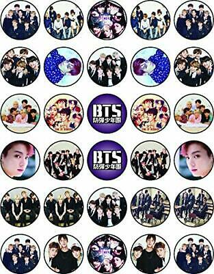 30x BTS Music Edible Cupcake Toppers 35mm Collection of ...