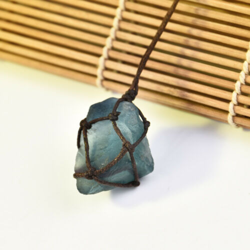 100/%Irregular Natural Crystal Quartz Stone Gemstone Pendant Women Necklace Jewel
