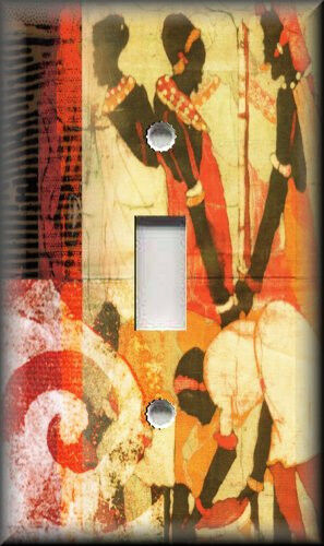 Metal Light Switch Plate Cover African Women African Home Decor