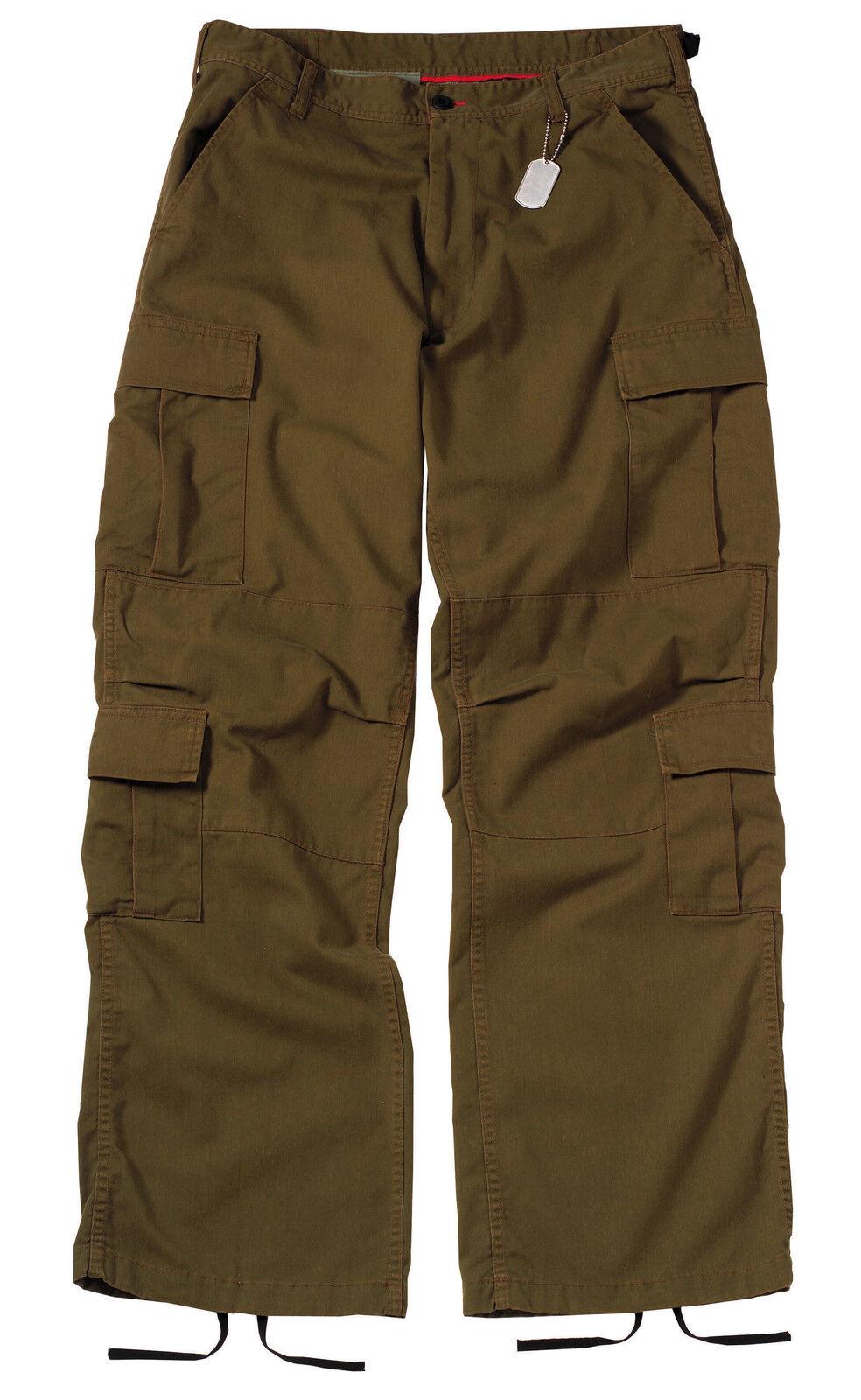 Vintage Russet Brown Paratrooper Cargo Pants BDU XS-3XL