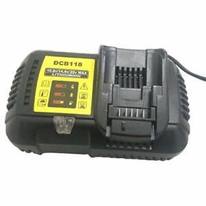 DCB118 pour Dewalt 10,8 V 12 V 14,4 V 18 V Chargeur de batterie lithium-ion pour