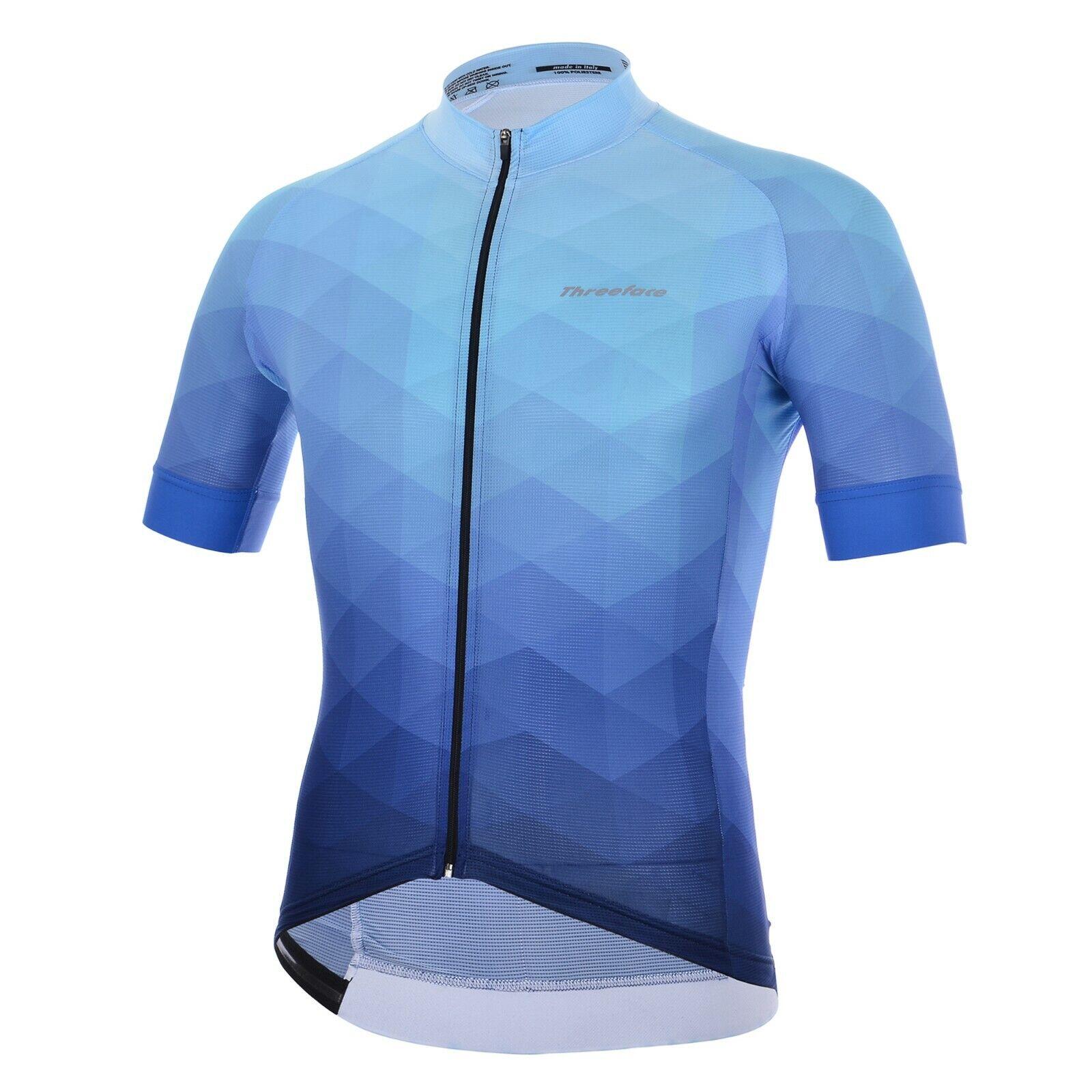 Maglia manica corta ciclismo Sky Climber azzurro blue bici mtb estate leggera
