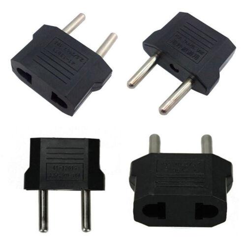 5pcs US USA to EU Euro Europe Power Wall Plug Converter Travel Adapter Pip OS