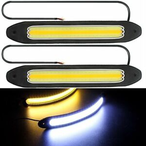 2pcs^12V LED COB Car Auto DRL Driving Daytime Running Lamp Fog Light Waterproof
