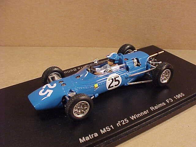 Spark 1/43 Résine Matra Ms1, Gagnant 1965 Reims F3, #25, Jean-P. Beltoise #S1598 | Matériaux De Qualité  | Sale