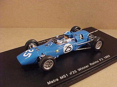 Spark 1/43 Resin Matra MS1, Winner 1965 Reims F3, #25, Jean-P. Beltoise  #S1598