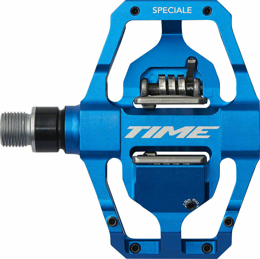Time Speciale 12 Atac Mountain Bike MTB Enduro Pedals met cleats blauw