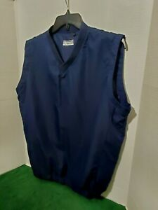 Alan-Flusser-Men-039-s-Golf-Vest-Large-Sleeveless-V-Neck-Light-Weight-Navy-Blue