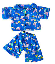 "Sunny Days Blue Pj's Teddy Bear Clothes Outfit Fits Most 14"" - 18"" Build-A-Bear,"