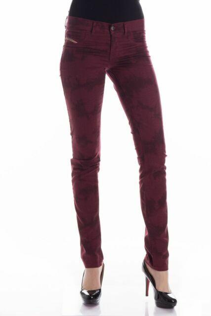 DIESEL Livier SP Rouge Skinny 003M9 _ Stretch Jeans sz W28 L34 8-10 UK Bnwt Taille basse