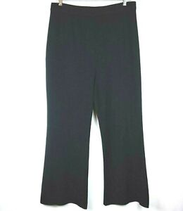 Exclusively Misook Pants Size 2X Black Acrylic Knit Pull On flat front elastic