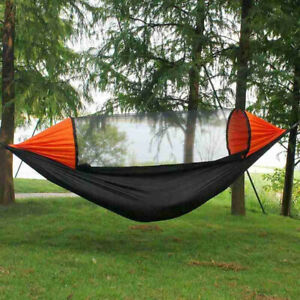 Outdoor 360°protection 2 Person Quick Opening Mosquito Net Anti rollover Hammock