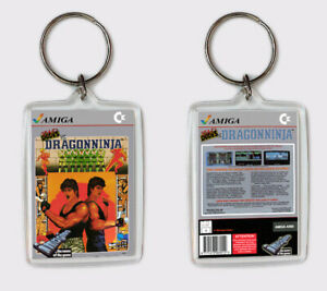 Alerte Bad Dudes Vs Dragon Ninja Commodore Amiga Llavero Keyring