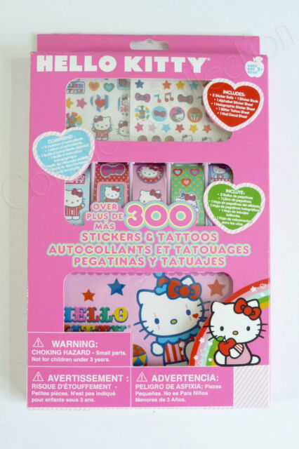 HELLO KITTY OVER 300 STICKERS & TATTOOS with Nail Decals BRAND NEW Sanrio BNIB!