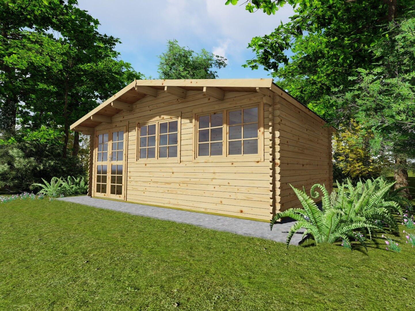 gartenhaus holz fu boden 28mm iso blockhaus 6x3m 0 5m 40mm regensburg 40052f ebay. Black Bedroom Furniture Sets. Home Design Ideas