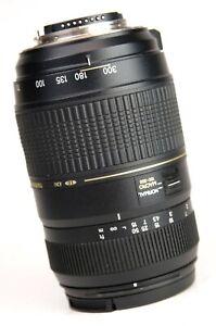 Tamron-AF-70-300mm-F4-5-6-LD-DI-Tele-Macro-Zoom-Lens-Nikon-Front-Cap-Good