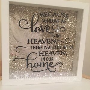 Because Someone We Love Is In Heaven Memorial Frame Ebay