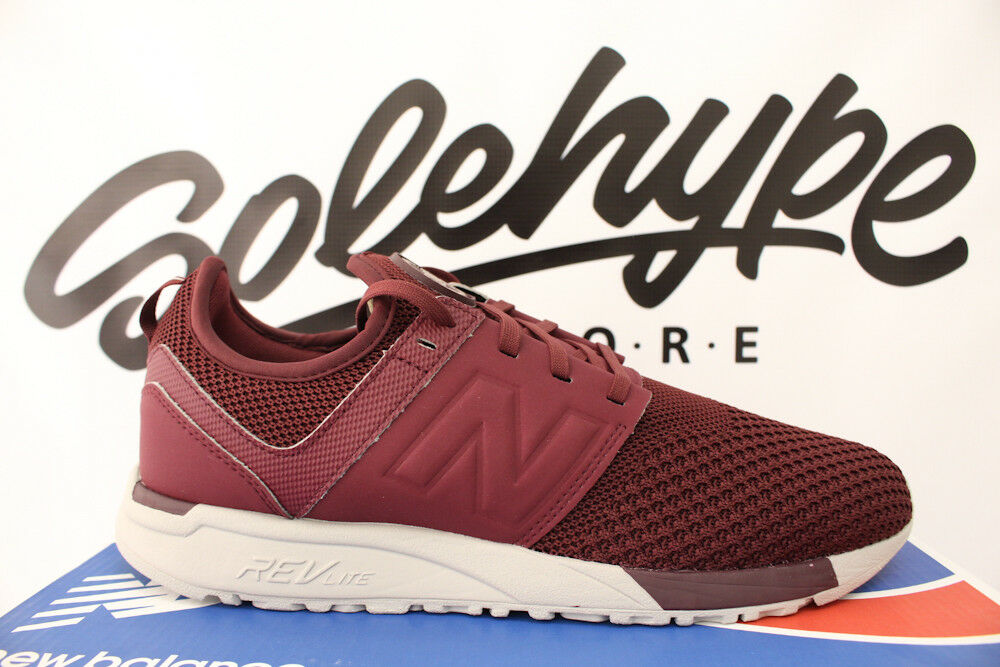 NEW BALANCE 247 BURGUNDYrougeblanc WINTER KNIT RUNNINGChaussuresMRL247WO SZ 11