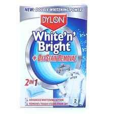 DYLON 2 IN 1 ULTRA WHITENER & OXI STAIN REMOVER 2 SACHETS WHITENS WHITE CLOTHES