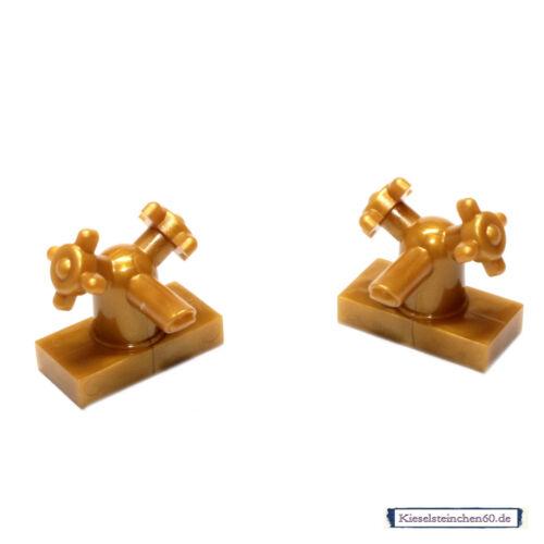 13770 Lego ® 2x personnages accessoires robinet perlgold 6044591