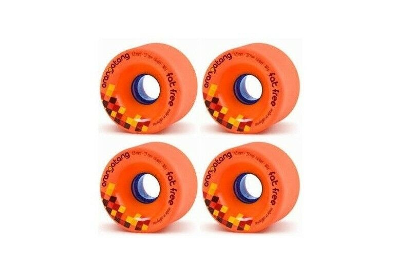 Orangatang 65mm  80a Fat Free Longboard Wheels Set of 4, More Grip Than Slip  new style