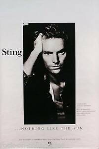 The-Police-Sting-1987-Nothing-Like-The-Sun-Original-Promo-Poster