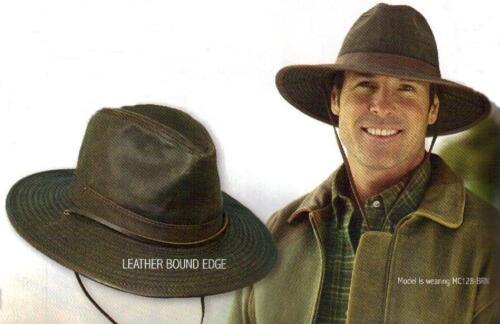 DORFMAN PACIFIC Weathered Cotton Mens OUTBACK SAFARI HAT w CHIN STRAP M L XL New