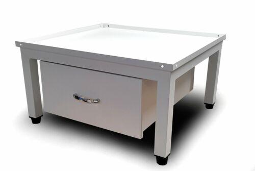 hausratplus Untergestell Podest f Waschmaschine Schublade Sockel weiß