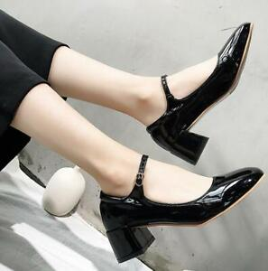 Womens Patent Leather Ankle Strap