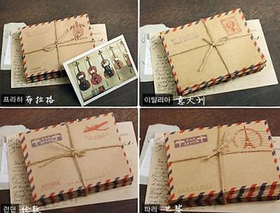 New 10 Sheets Mini Envelope Postcard Letter Stationary Storage Paper Vintage BCA