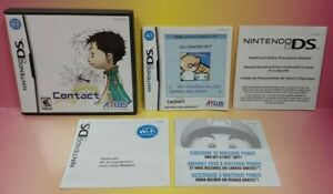 Contact by Atlus 2006 Rare - Nintendo DS Case Manual Cover Art ONLY *NO GAME*