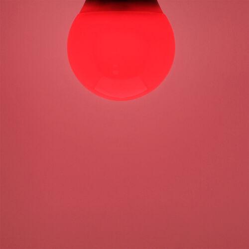 2x 6W LED Red Coloured GLS A60 Light Bulb Lamp BC B22 Low Energy 110-265V