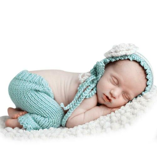 Newborn Baby Knit Clothes Photo Crochet Costume Prop Outfit Xmas Dress Hat Gifts
