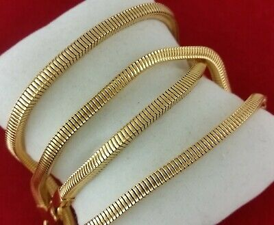 Real 14k Gold Filled Knitted Solid Franco Box Snake Rope