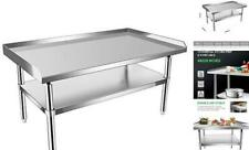 Stainless Steel Equipment Grill Stand With Undershelf For 2848 Inches