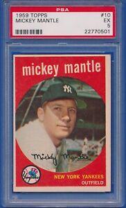 1959-Topps-10-Mickey-Mantle-New-York-Yankees-HOF-PSA-5-EX