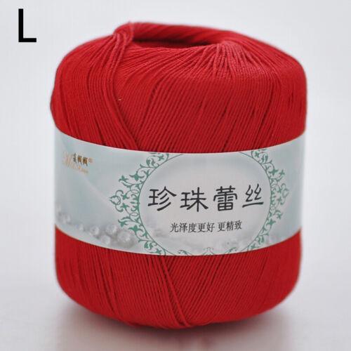 Soft Cotton Crochet Yarn DIY Hand Milk Baby Tatting Knitting Wool Yarn Thread
