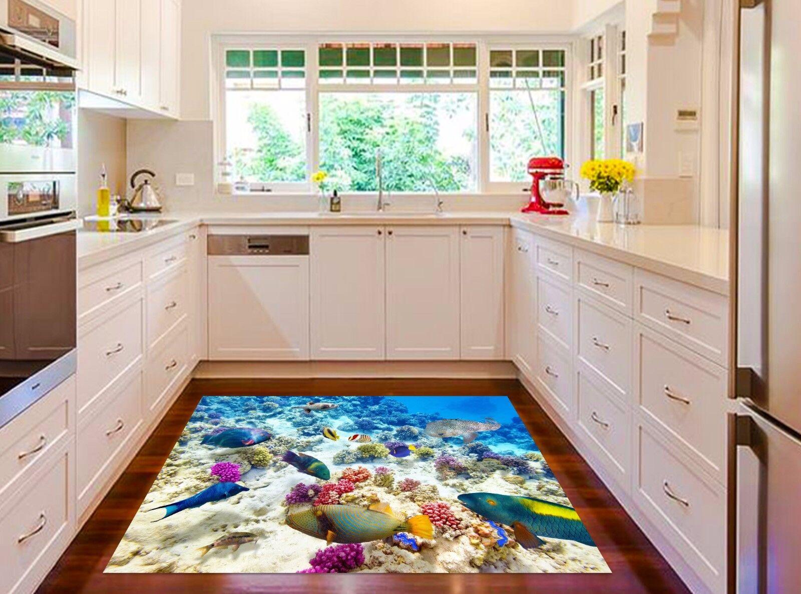 3D Pretty Seabed Kitchen Mat Floor Murals Wall Print Wall Deco AJ WALLPAPER AU