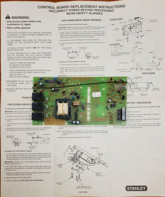 Stanley Garage Door Opener Logic Board Model 3046 15 For Sale Online Ebay
