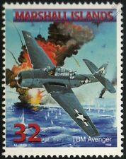 US Navy GRUMMAN TBF AVENGER Torpedo Bomber Aircraft Airplane Mint Stamp
