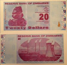 ZIMBABWE 2009 20 DOLLARS POST INFLATION UNC NOTE P-95 BUY FROM A USA SELLER !!!!