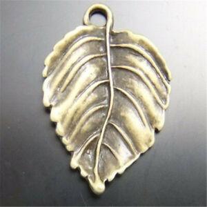 18pcs-Retro-Bronze-26x20mm-Tree-Leaf-Shaped-Pendants-Charms-Jewelry-Accessories