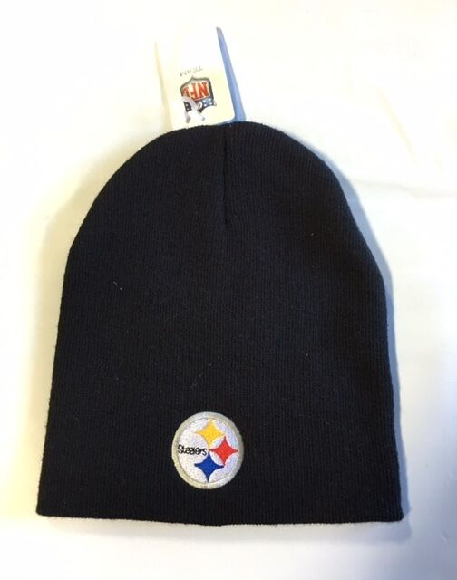 Pittsburgh Steelers Knit Beanie Winter Hat Toque Skull Cap Black for sale  online  486741f0d