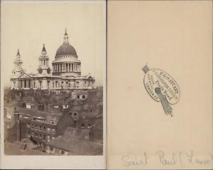 Stuart-Royaume-Uni-Eglise-Saint-Paul-Vintage-CDV-albumen-carte-de-visite-C